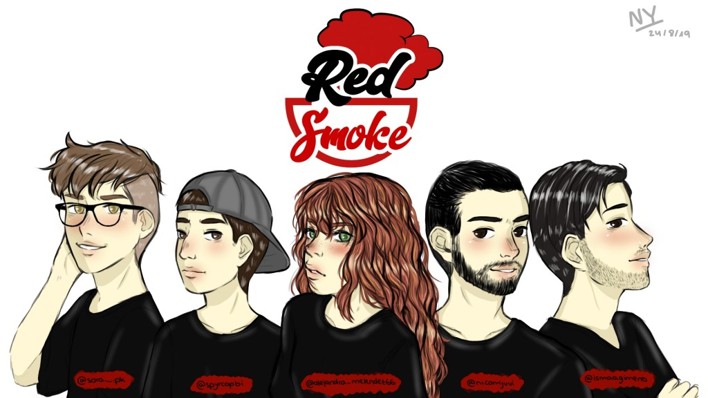 Red Smoke dibujo